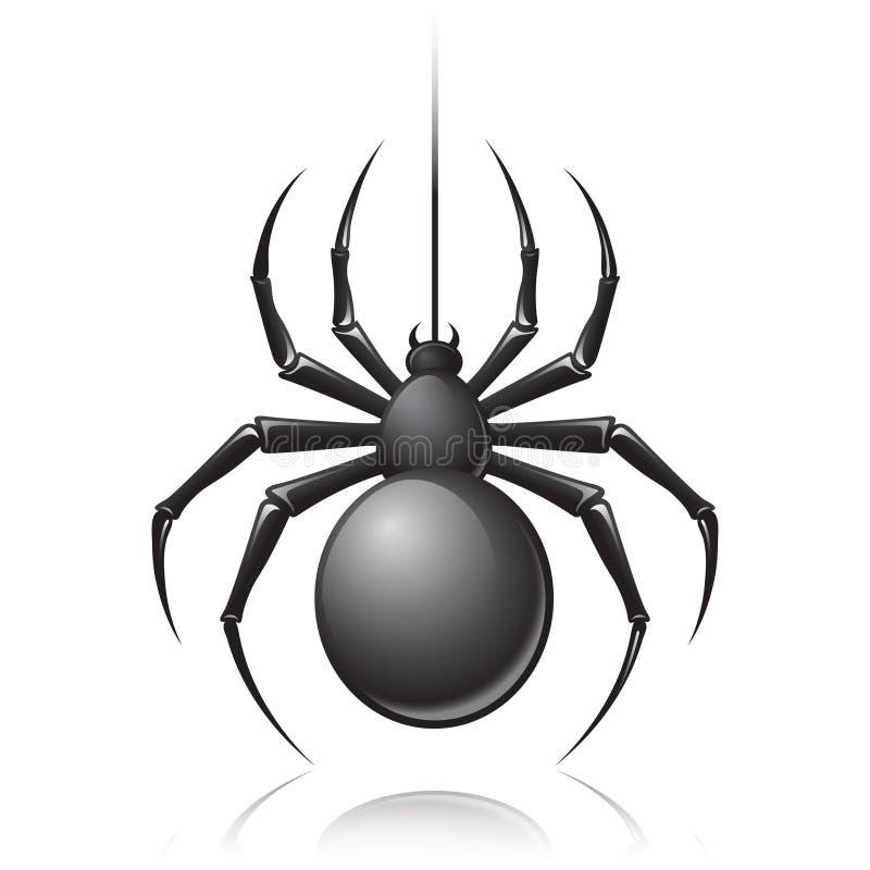 Zwart spinembleem royalty-vrije illustratie