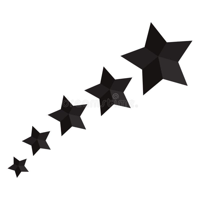 Zwart sterpictogram Vector illustratie vector illustratie