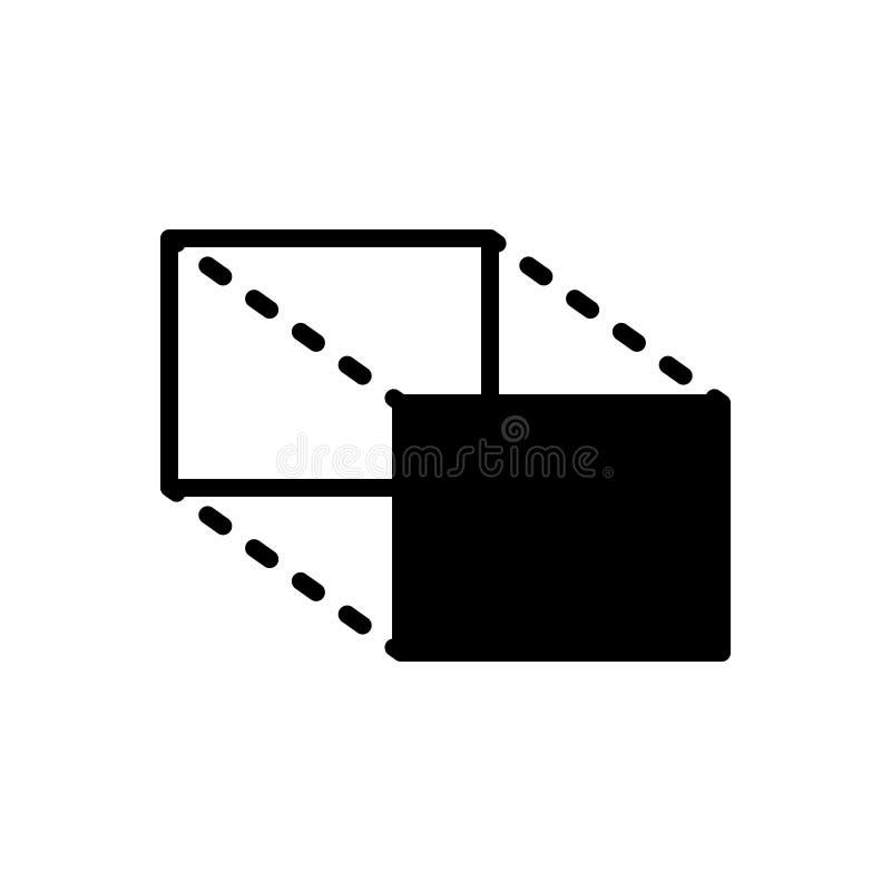 Zwart stevig pictogram voor Aandelen, omvang en volume stock illustratie