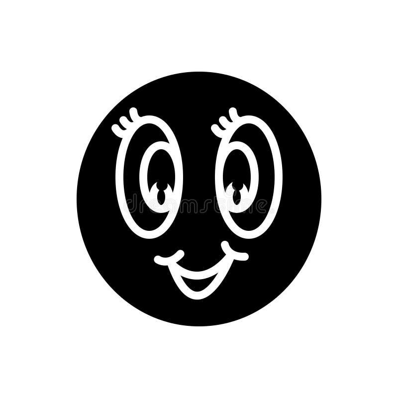 Zwart stevig pictogram voor Anime, animatie en levendigheid royalty-vrije illustratie