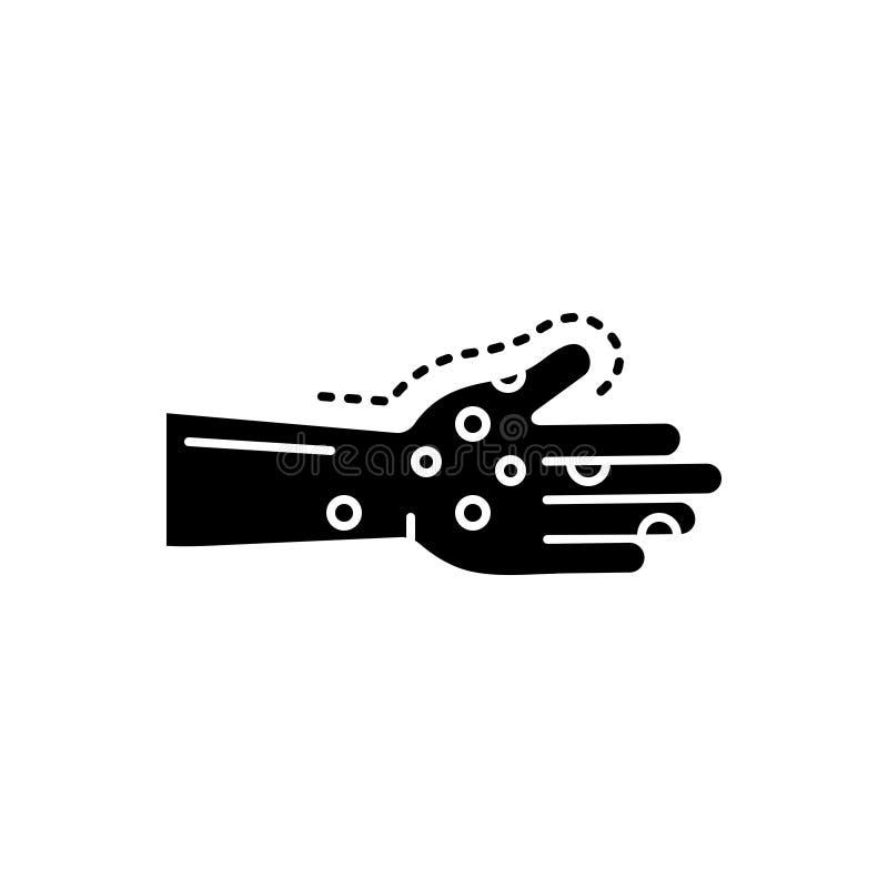 Zwart stevig pictogram voor Besmetting, ziekten en virus stock illustratie