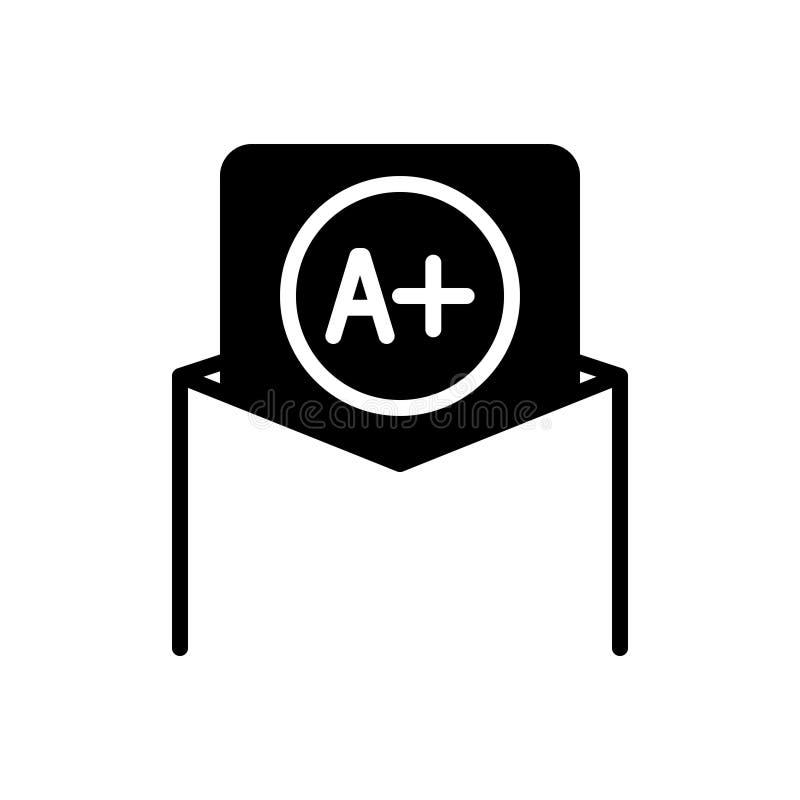 Zwart stevig pictogram voor Beste Rang, resultaat en goed stock illustratie