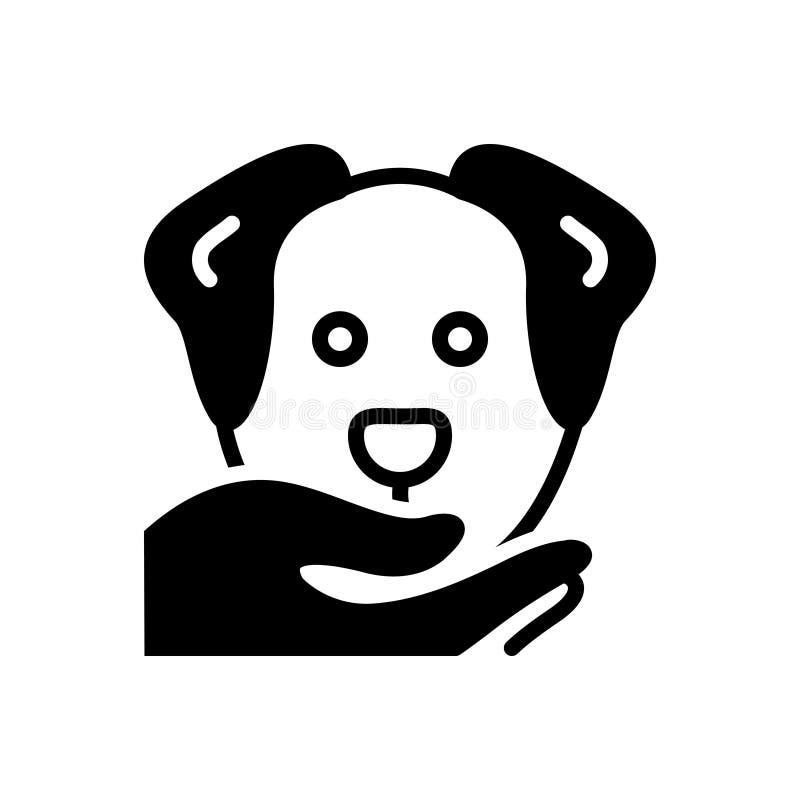 Zwart stevig pictogram voor Braaf, volgzaam en plichtsgetrouw royalty-vrije illustratie