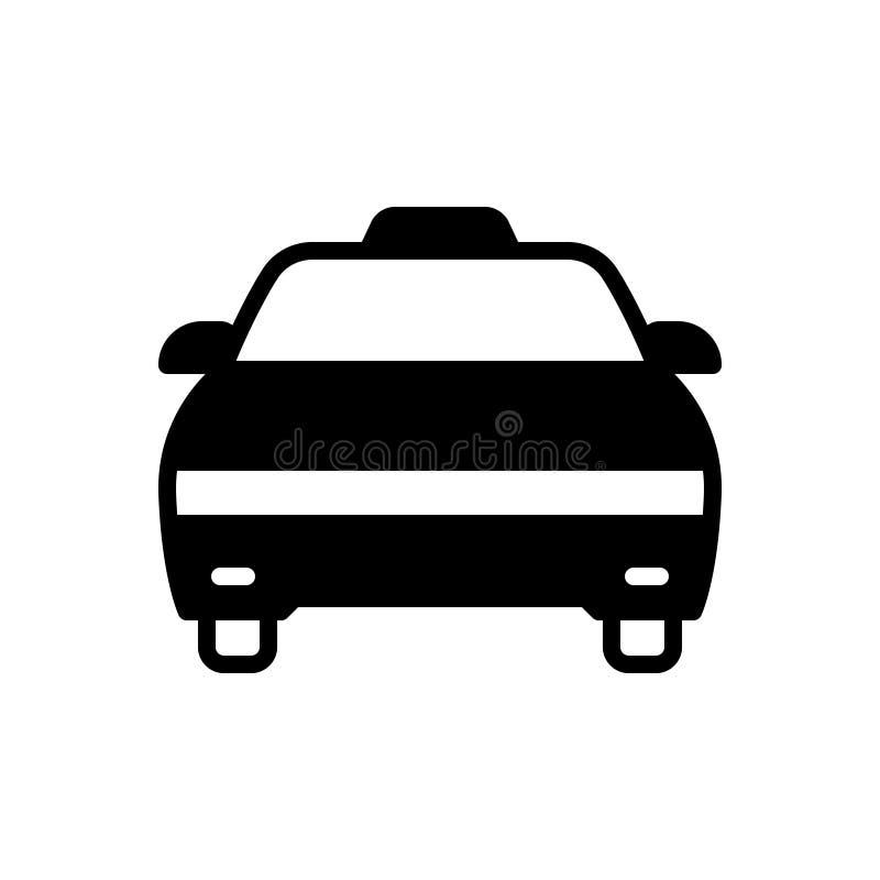 Zwart stevig pictogram voor Cabine, taxi en vervoer vector illustratie