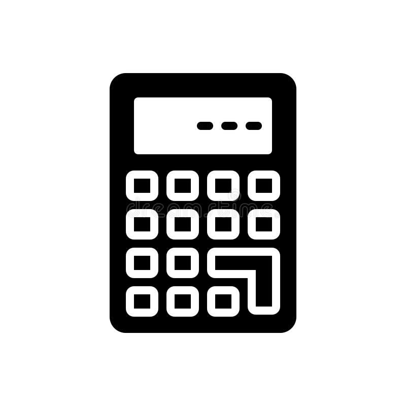 Zwart stevig pictogram voor Calculate, berekening en wiskunde royalty-vrije illustratie