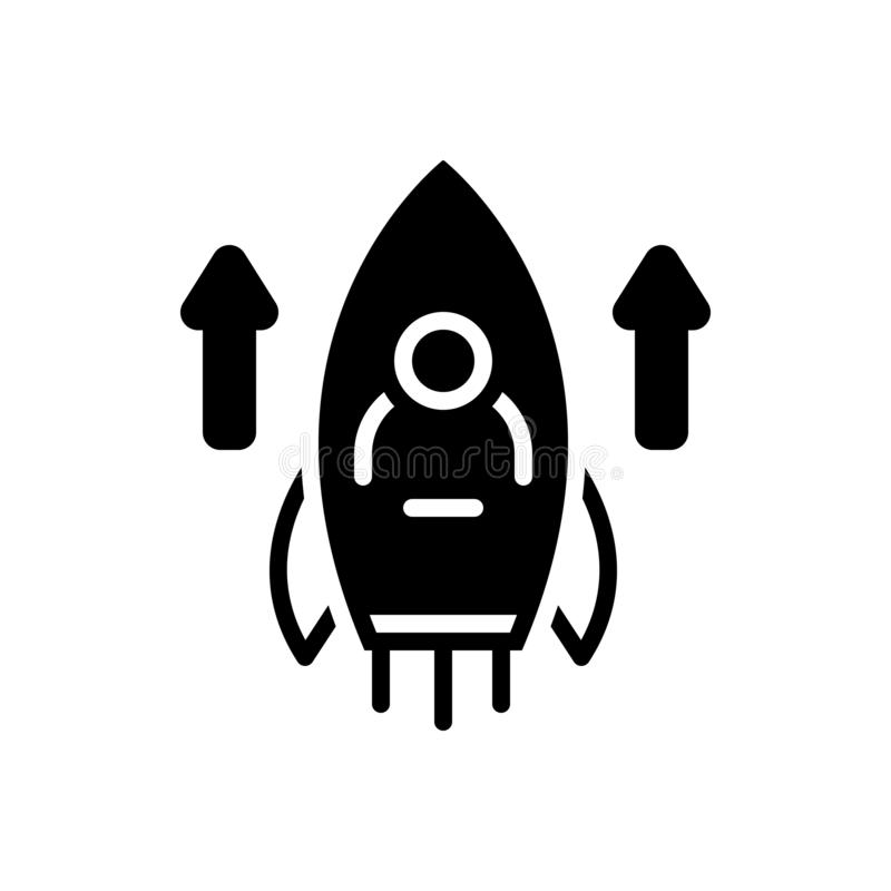 Zwart stevig pictogram voor Capaciteiten, vaardigheid en ervaring royalty-vrije illustratie