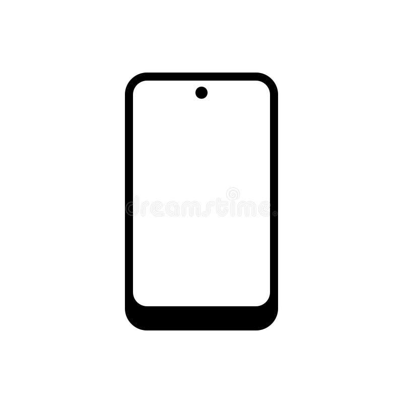 Zwart stevig pictogram voor Cellphone, technologie en telefoon royalty-vrije illustratie
