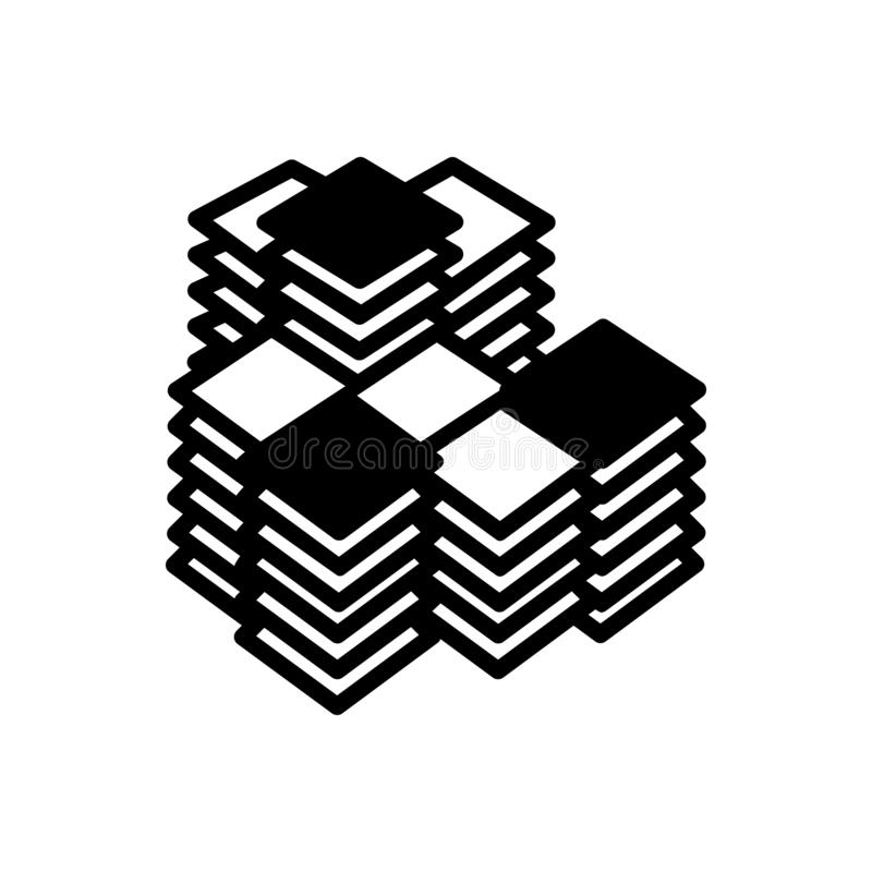 Zwart stevig pictogram voor de Bureaubouw, architectuur en bouw royalty-vrije illustratie