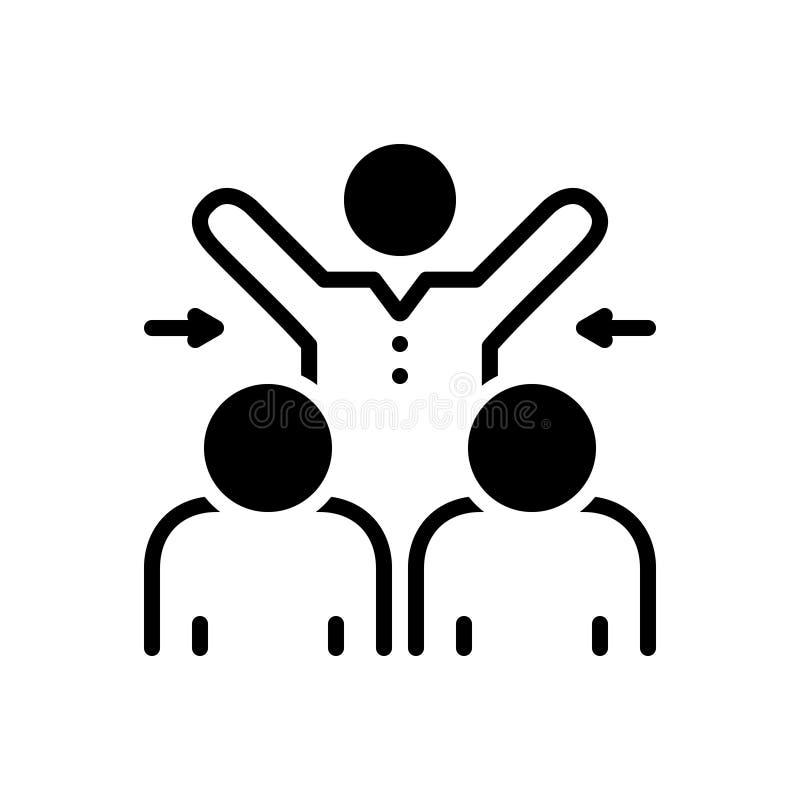Zwart stevig pictogram voor Deelgenomen, samenwerking en vennootschap royalty-vrije illustratie