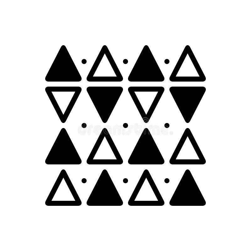 Zwart stevig pictogram voor Discrepantie, vorm en driehoek stock illustratie