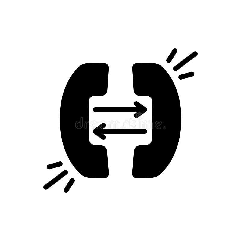 Zwart stevig pictogram voor Doorschakelen, afleidingsactie en netwerk stock illustratie
