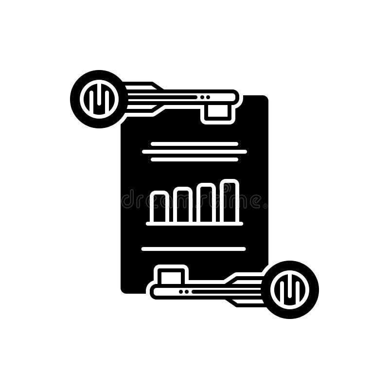 Zwart stevig pictogram voor Effici?nte Keywording, beheer en digitaal royalty-vrije illustratie