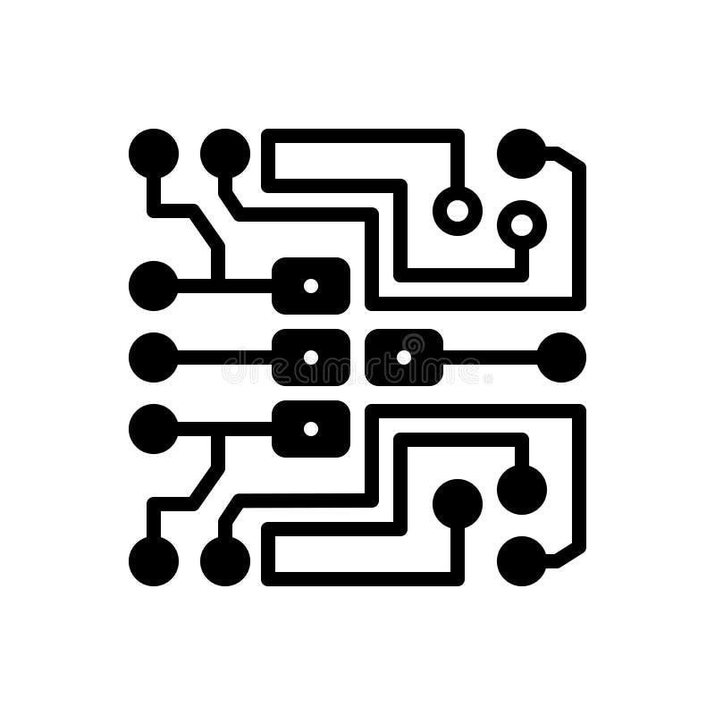 Zwart stevig pictogram voor Elektrisch, macht en elektriciteit vector illustratie