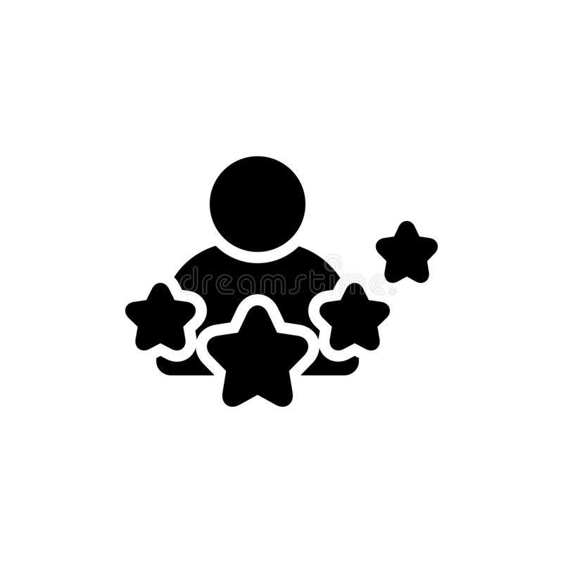 Zwart stevig pictogram voor Ervaring, kennis en deskundige vector illustratie