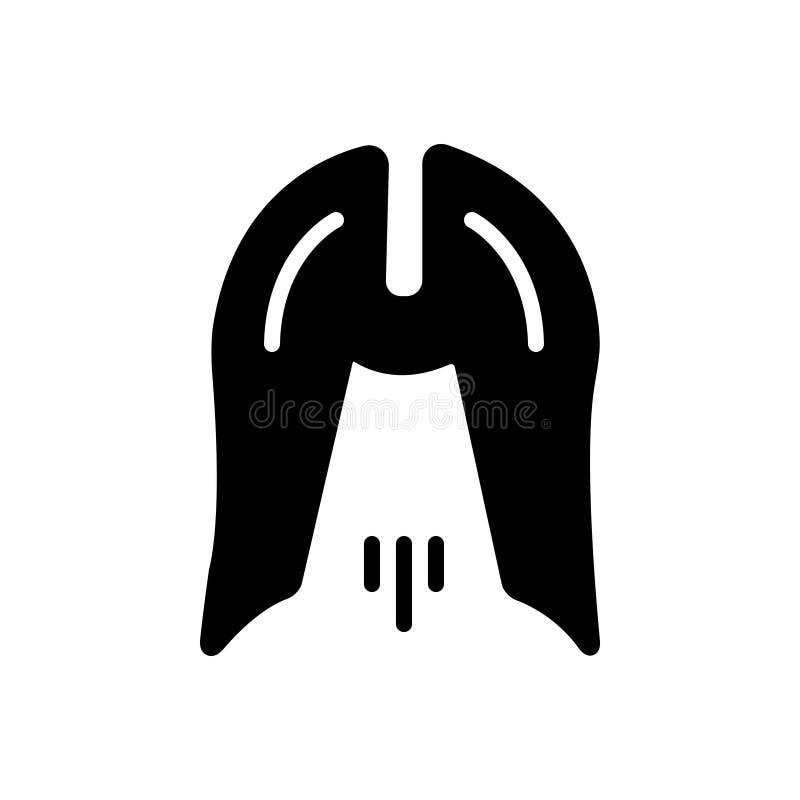 Zwart stevig pictogram voor Ethiek, moreel en ethisch royalty-vrije illustratie