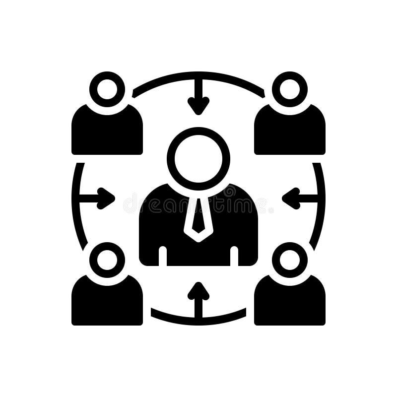 Zwart stevig pictogram voor Facilitator, aanpassing en comfort vector illustratie