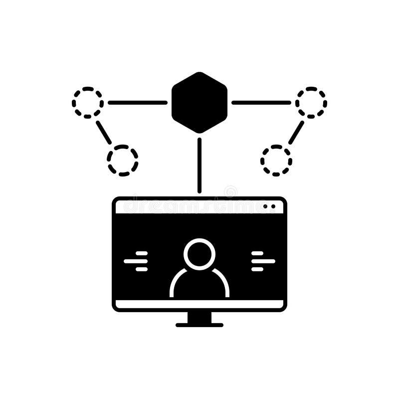 Zwart stevig pictogram voor Gebruiker, Ervaring en Ontwerp stock illustratie