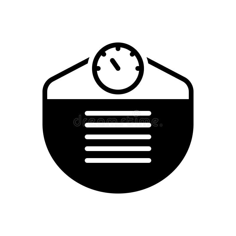Zwart stevig pictogram voor Gewicht, heft en meterage royalty-vrije illustratie