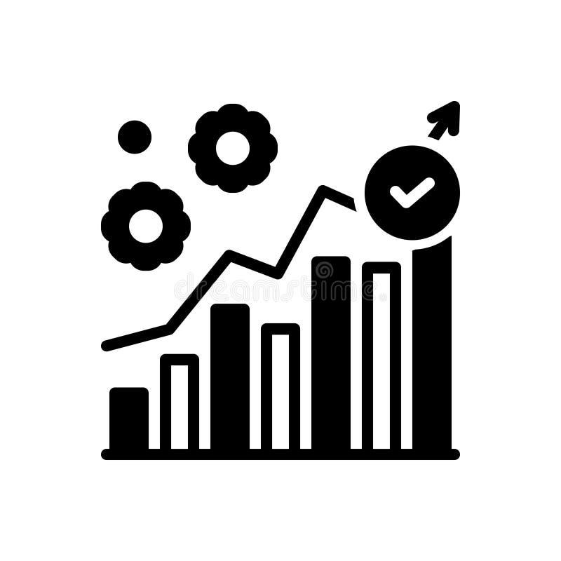 Zwart stevig pictogram voor het Uitvoeren, beheer en handel royalty-vrije illustratie