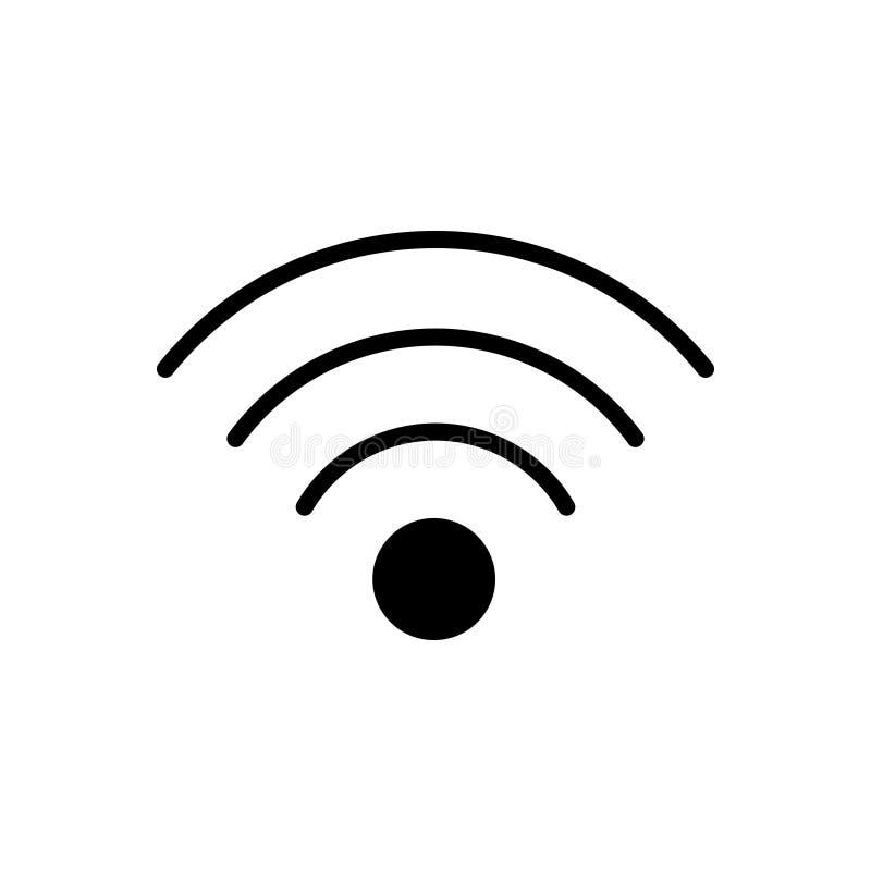 Zwart stevig pictogram voor Hotspot, de toegang en de mededeling van Wifi vector illustratie