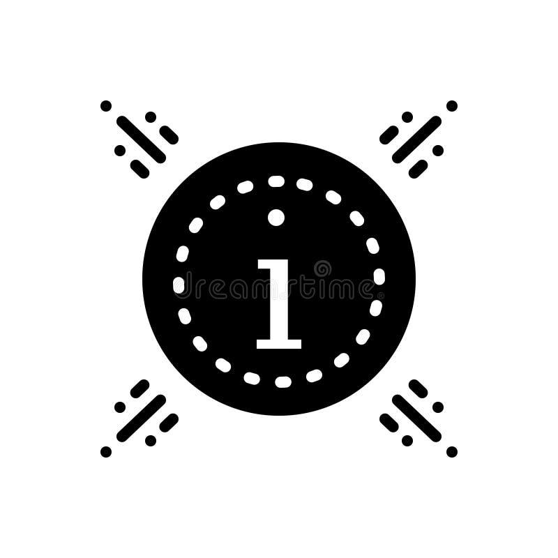 Zwart stevig pictogram voor Informatie, kennis en mededeling vector illustratie