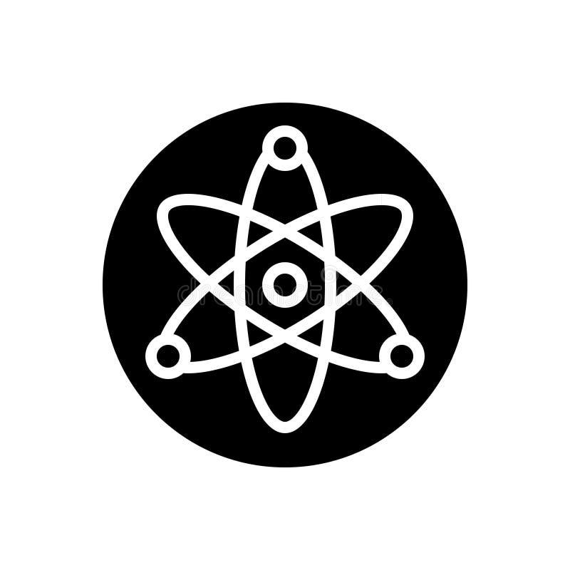 Zwart stevig pictogram voor Kern, energie en wetenschap royalty-vrije illustratie