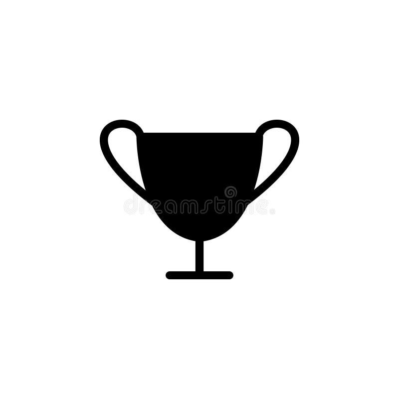 Zwart stevig pictogram voor Kop, toekenning en de concurrentie vector illustratie