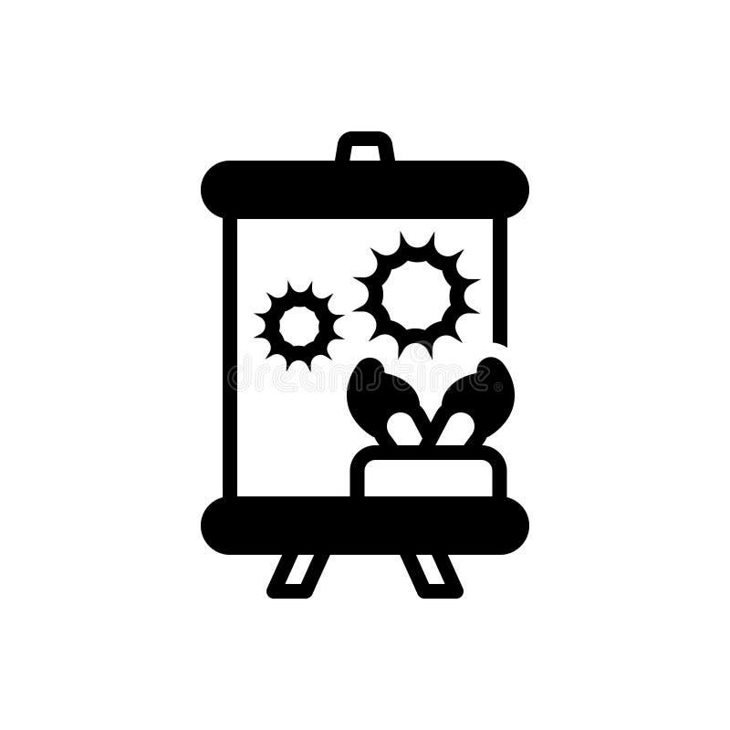 Zwart stevig pictogram voor Kunst, vaardigheid en talent stock illustratie