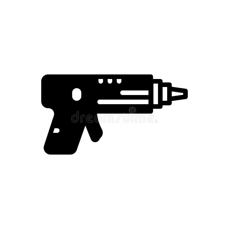 Zwart stevig pictogram voor Lasertag, airsoft en vermaak vector illustratie