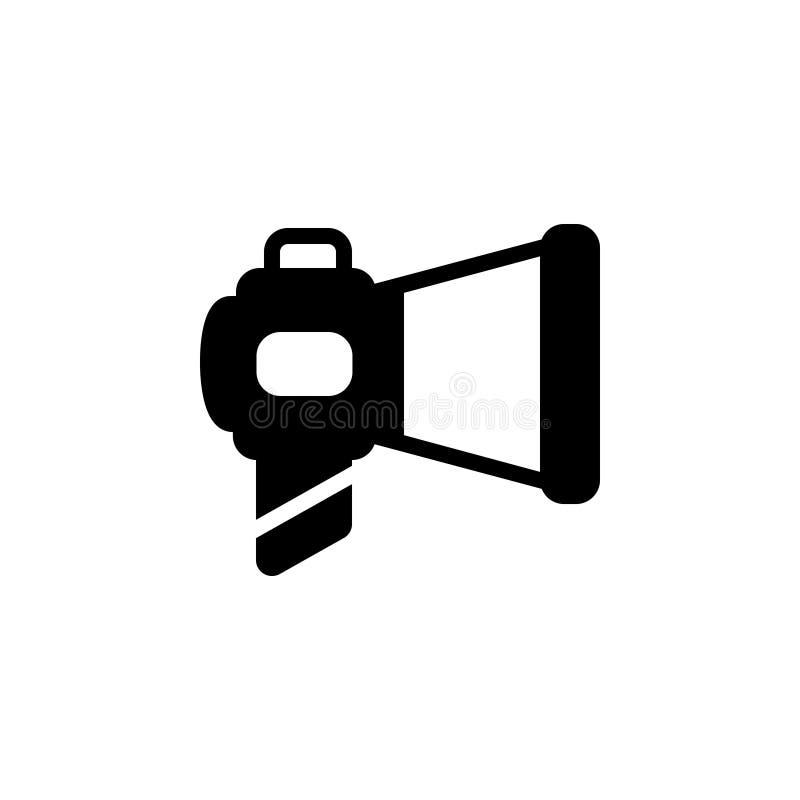 Zwart stevig pictogram voor Marketing, megafoon en mededeling stock illustratie