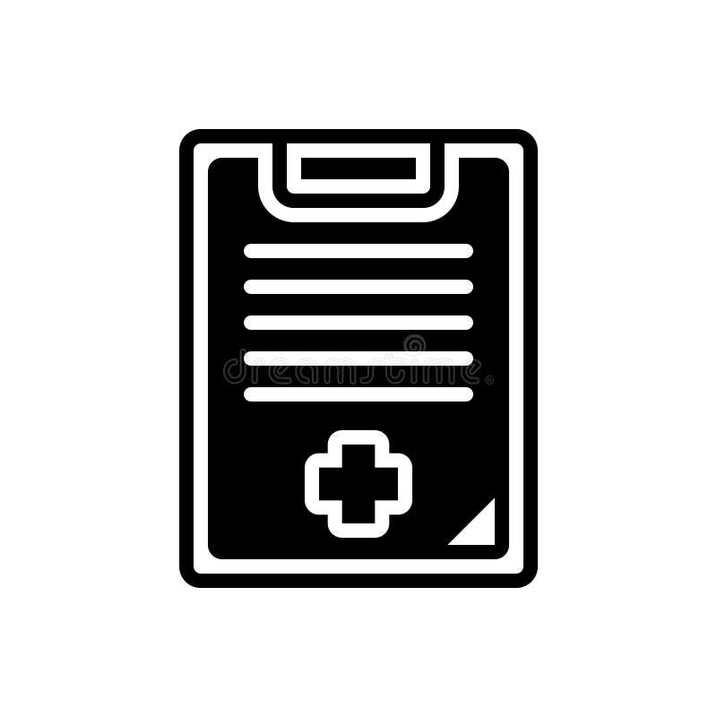 Zwart stevig pictogram voor Medische Geschiedenis, gezondheidszorg en geneeskunde stock illustratie