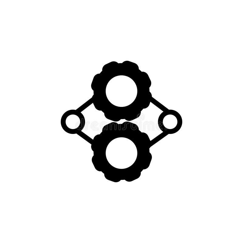 Zwart stevig pictogram voor Motor, toestellen en machine royalty-vrije illustratie