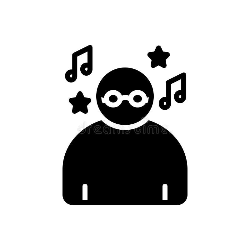 Zwart stevig pictogram voor Onbezorgd, achteloos en roekeloos royalty-vrije illustratie