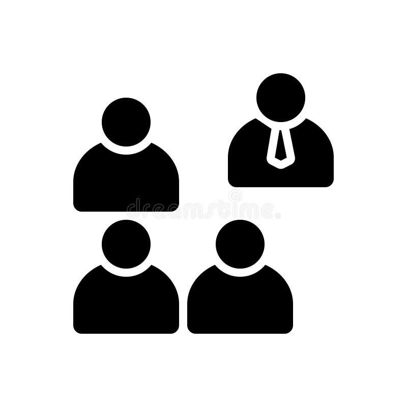 Zwart stevig pictogram voor Onderscheid, buiten en eenzaam royalty-vrije illustratie