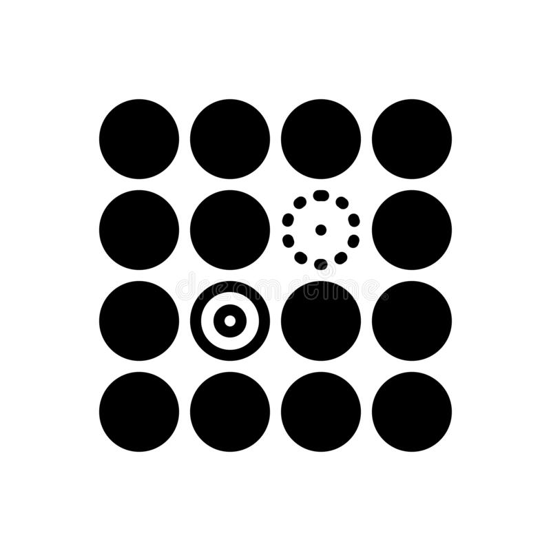 Zwart stevig pictogram voor Onderscheiden, moeilijkheden en verschil royalty-vrije illustratie