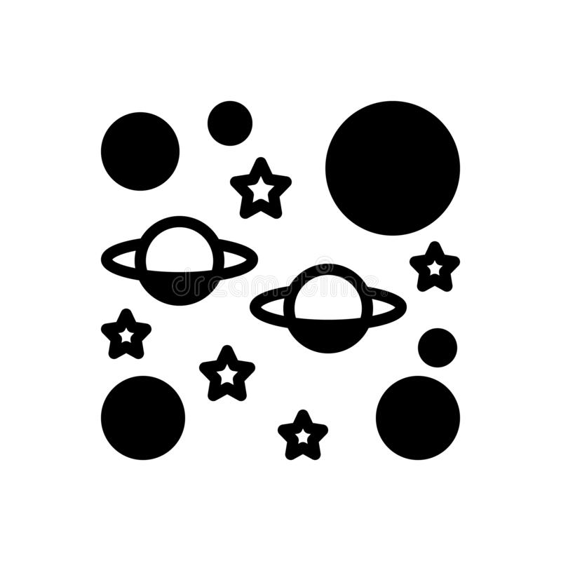 Zwart stevig pictogram voor Oneindig, eindeloos en grenzeloos royalty-vrije illustratie