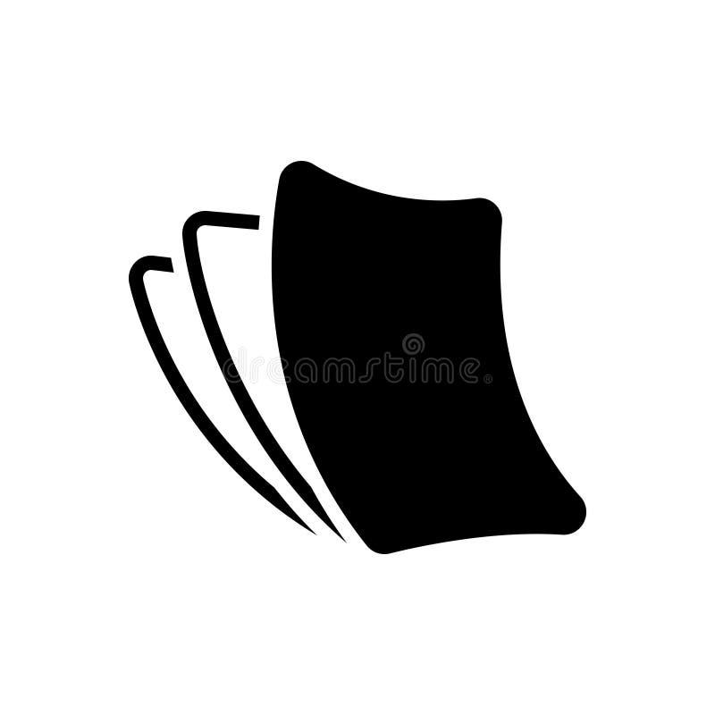 Zwart stevig pictogram voor Paperless, karton en wegwerpproduct vector illustratie
