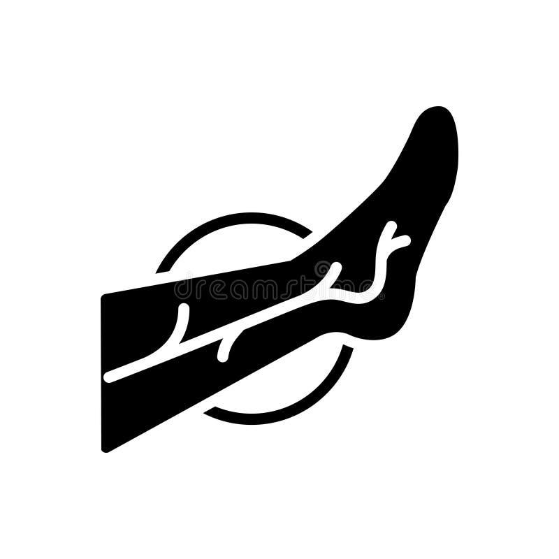 Zwart stevig pictogram voor Phlebology, aders en been stock illustratie