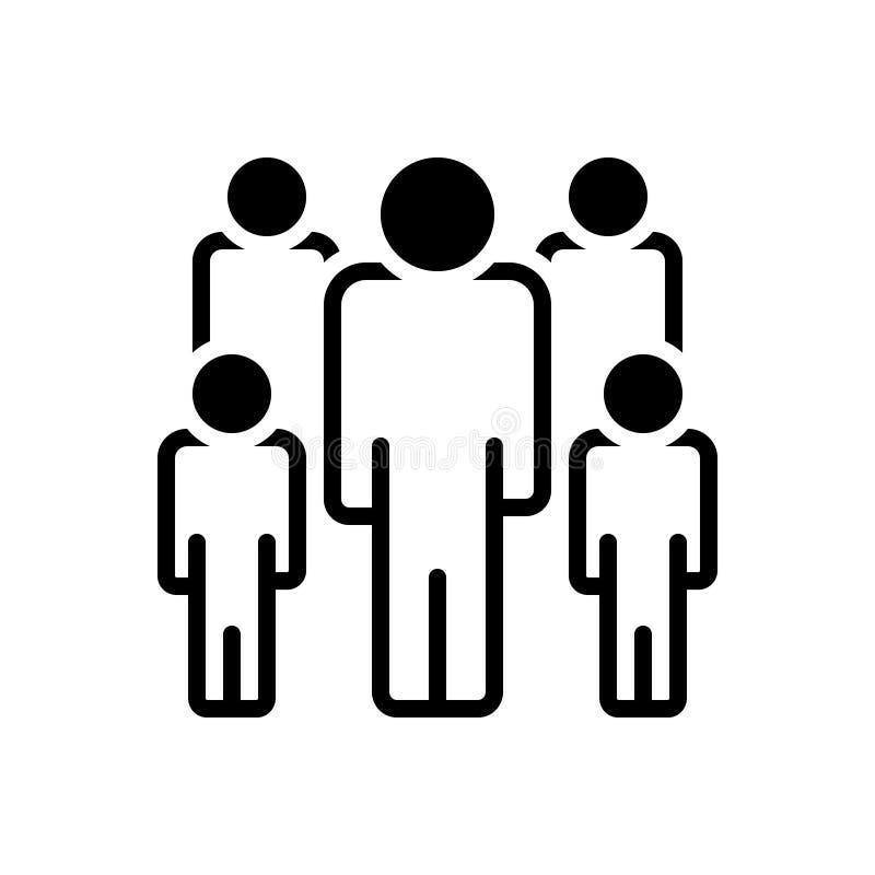 Zwart stevig pictogram voor Publiek, kijker en toeschouwer stock illustratie