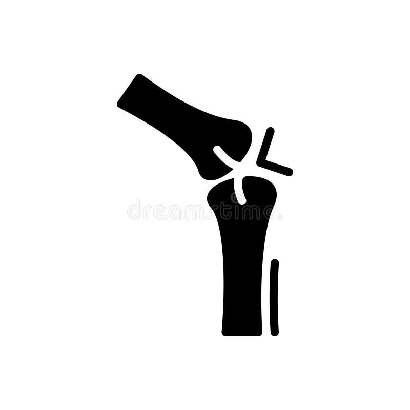 Zwart stevig pictogram voor Verbinding, artritis en reumatiek royalty-vrije illustratie