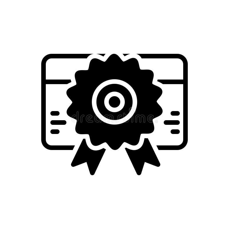 Zwart stevig pictogram voor Vergunning, identificatie en informatie stock illustratie