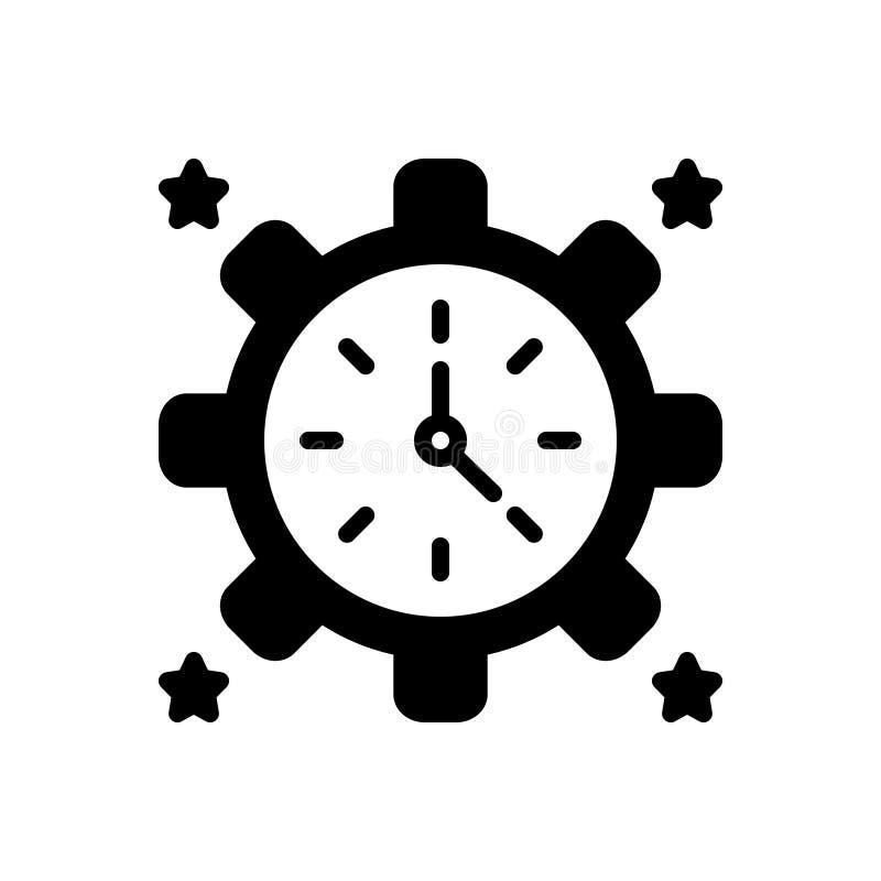 Zwart stevig pictogram voor voortaan, vandaar en daarna stock illustratie