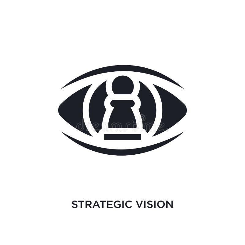 zwart strategisch visie geïsoleerd vectorpictogram eenvoudige elementenillustratie van stategy opstarten en concepten vectorpicto stock illustratie