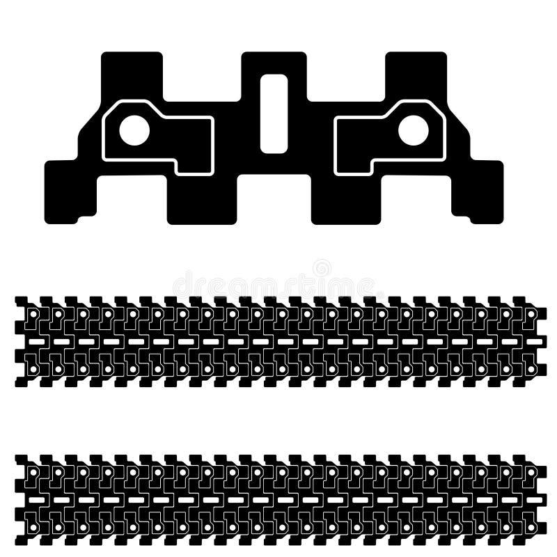 Zwart tankspoor stock illustratie