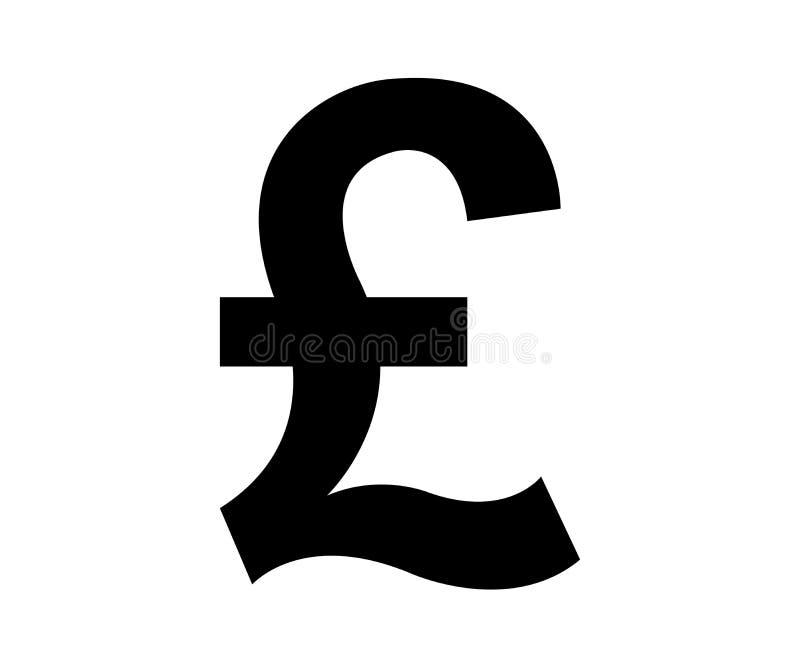 Zwart teken van een Brits pond royalty-vrije illustratie