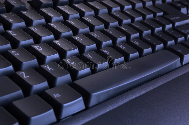 Zwart toetsenbord stock foto