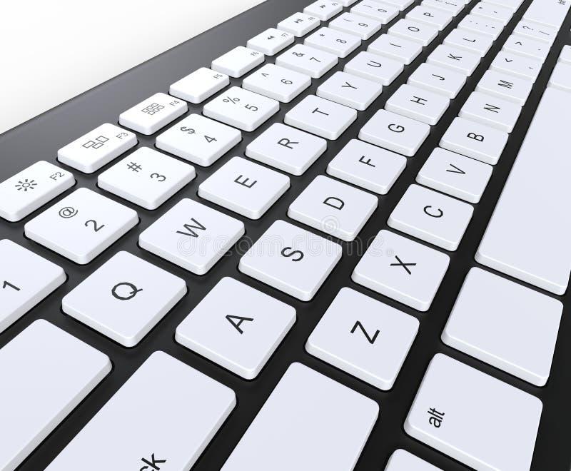 Zwart toetsenbord met witte sleutels vector illustratie