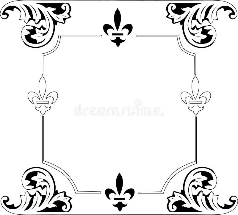 Zwart traditioneel frame stock illustratie