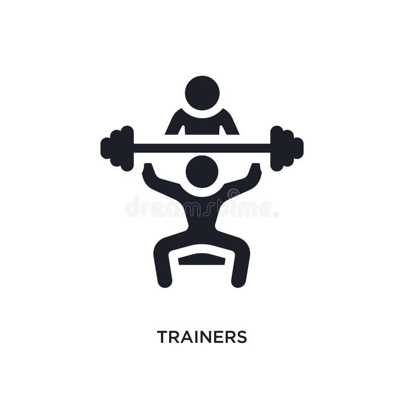 zwart trainers geïsoleerd vectorpictogram eenvoudige elementenillustratie van gymnastiek en geschiktheidsconcepten vectorpictogra stock illustratie