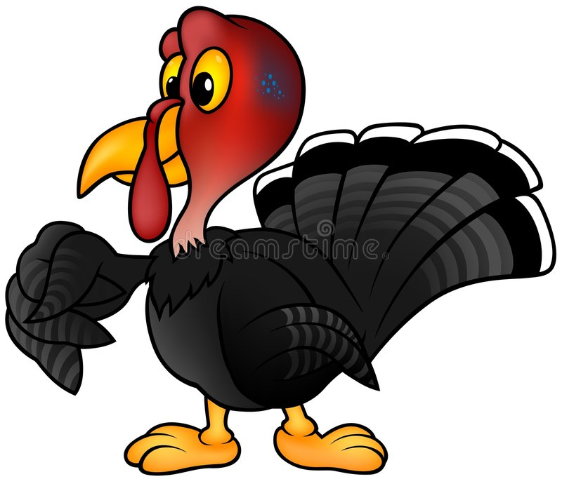Zwart Turkije stock illustratie